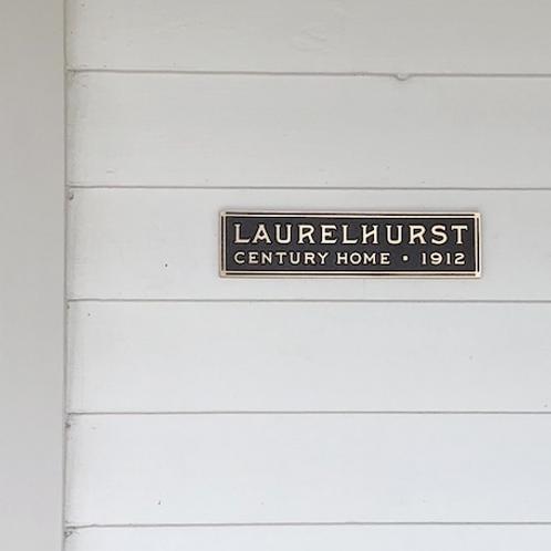 Laurelhurst Century Home Plaque
