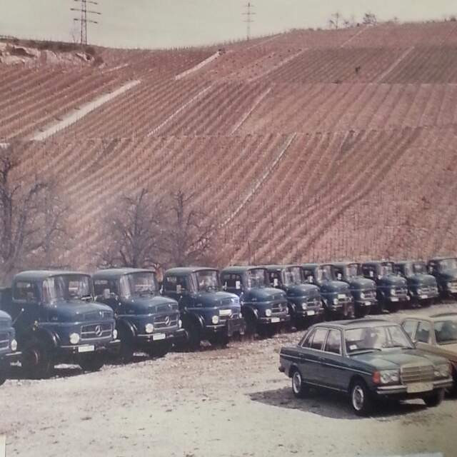 Bautransporte mit Baufahrzeugen in den 80-gern