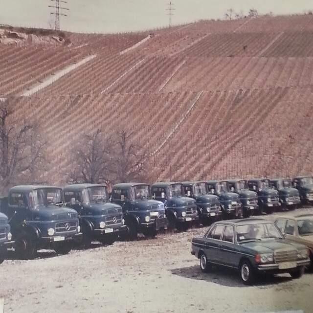 Bautransporte mit Baufahrzeugen in den 80-er Jahren