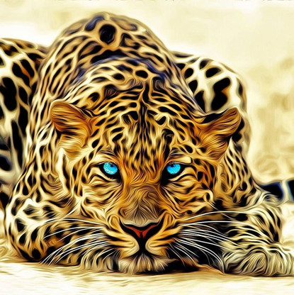 Digital art leopard