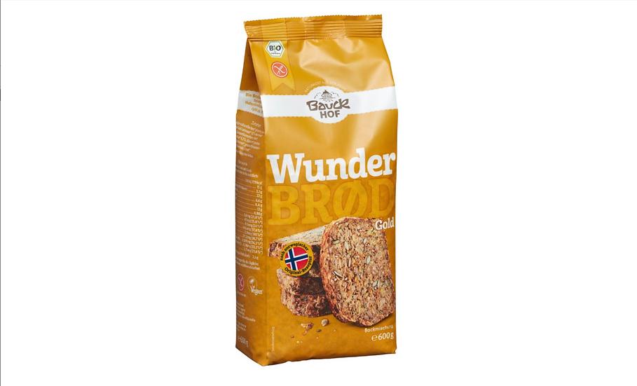 Bio Brotbackmischung Wunderbröd GOLD 600g