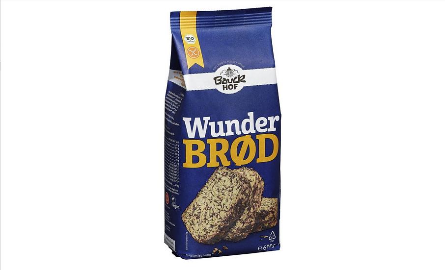 Bio Brotbackmischung Wunderbrod, glutenfrei 600g