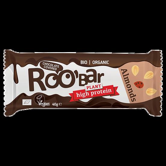 Roobar Proteinriegel mit Mandeln umhüllt mit Schokolade 40 g