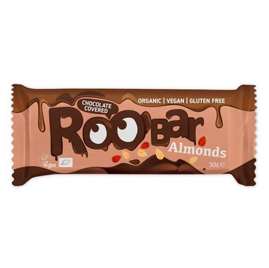 Roobar Mandelriegel umhüllt mit Schokolade 30 g