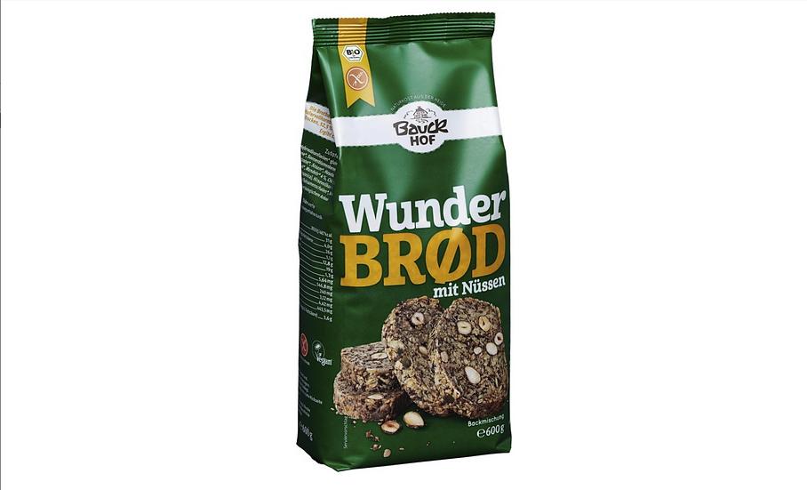 Bauckhof Bio Wunderbrot mit Nüssen Beutel 600 g