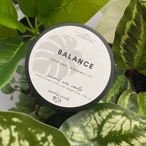 Balance Candle - Lemon Peel, Evergreen, Fir
