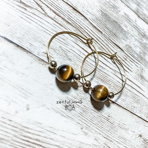 Hoop Earrings - One Stone