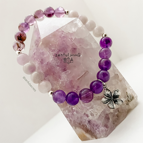 Aria Bracelet - Super 7, Amethyst, Purple Jade