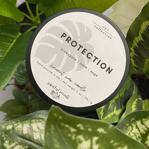 Protection Candle - Pineapple, Palm, Sage