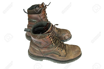 35852729-old-brown-leather-steel-toe-wor