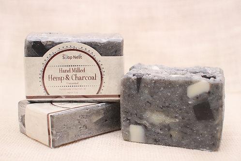 Hand Milled Hemp & Charcoal-Fragrance Free