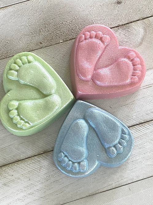 Baby Shower Favors/Heart Feet