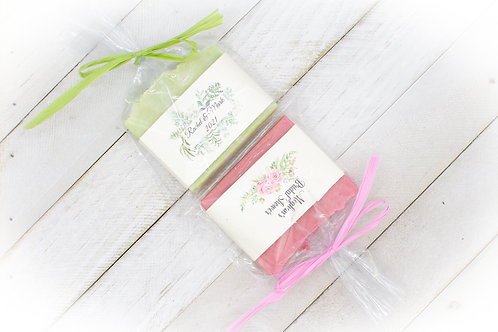 Customized Rustic Soap Favors