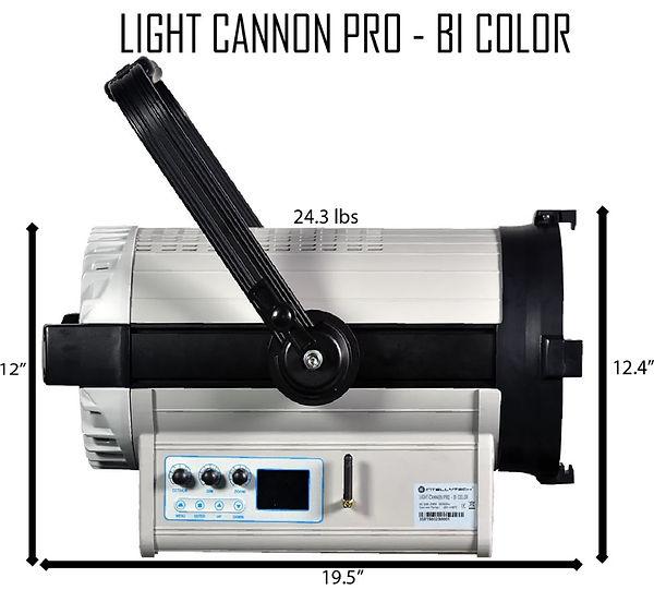 light cannon pro bi color dimensions