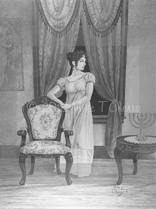 Woman with Menorah