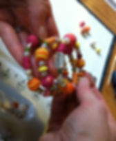Bead Memory Bracelet -Peace, hands, colo