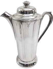 3 Tea pot style cocktail shaker, c. 1920