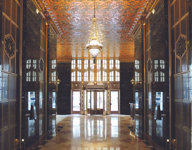 Lobby of 140 New Montgomery, photo by Th