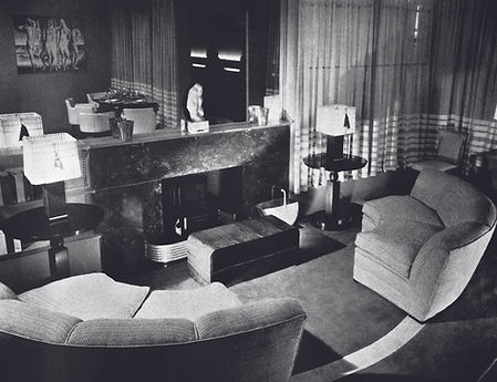 2. Living room in the Suburban House of