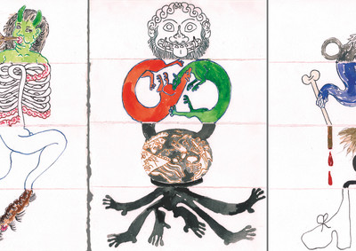 Exquisite corpse (The head, the torso, the legs and the feet) #4 #1 #6