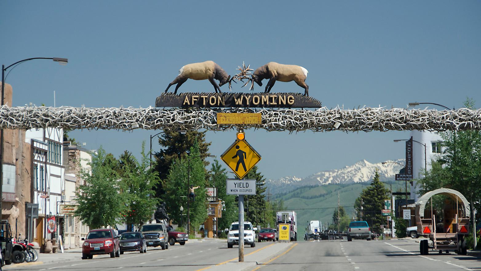 Afton in Wyoming