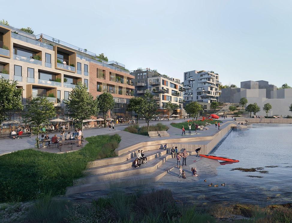 Slemmestad Sentrum Havnepark