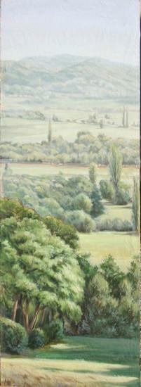 Paysage drômois. 1.50m x O.50m