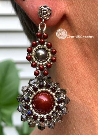 Bordeaux 2 Statement Earrings