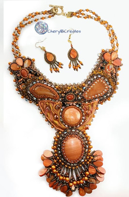 Sunset Necklace and Earrings