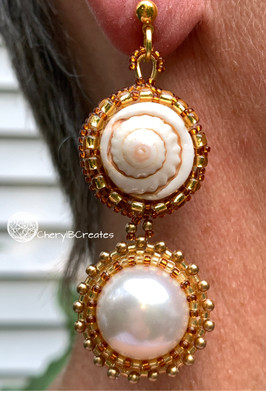 Pearl and Shell Statement Earrings