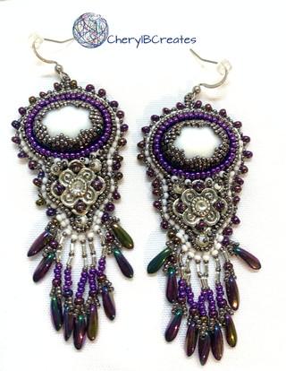 Mardi Gras Statement Earrings