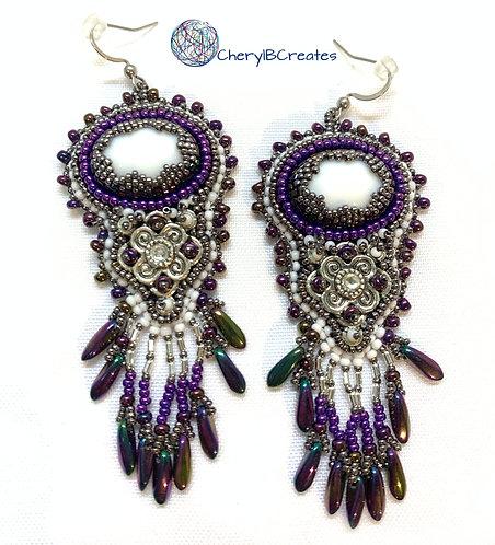 Statement Earrings-Mardi Gras