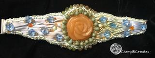 Orange Flower Bracelet