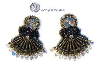 Flower Girl Statement Earrings