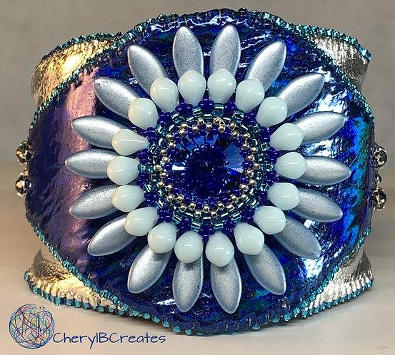 Blue Daisy Bracelet