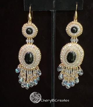 Black Gold Statement Earrings
