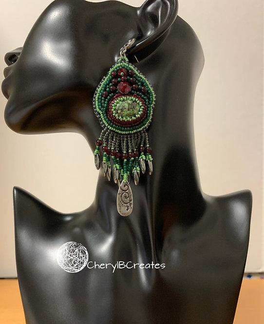 Earrings Ruby 1