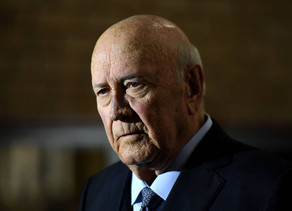 'His hands are dripping with blood' - calls to cancel FW de Klerk talk in US on Racism, Rule of Law