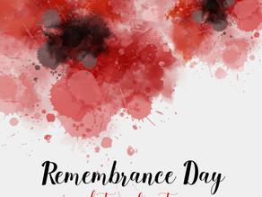 Remembrance Day - 11 November - Lest We Forget