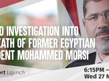 UN-led Investigation into the Death of Former Egyptian President Mohamed Morsi