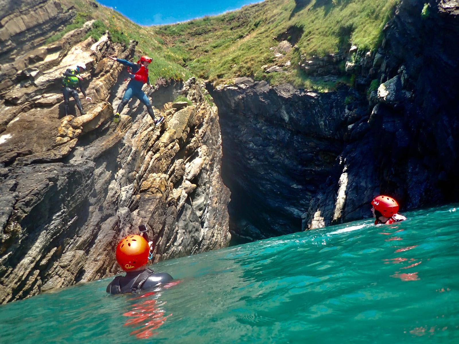 Coasteering age 8+ Adults welcome