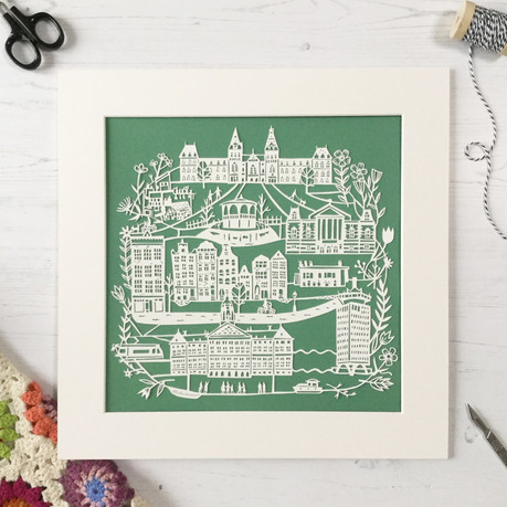 Original Papercut: One Day in Amsterdam, €400, frame and postage included, contact jessicahalmshaw@gmail.com