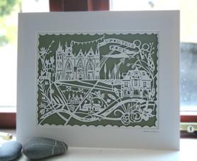 Peterborough personalised papercut