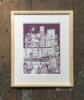 Durham personalised papercut