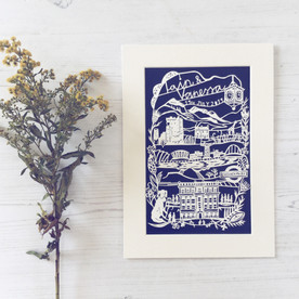 Personalised Papercut featuring Scottish landmarks