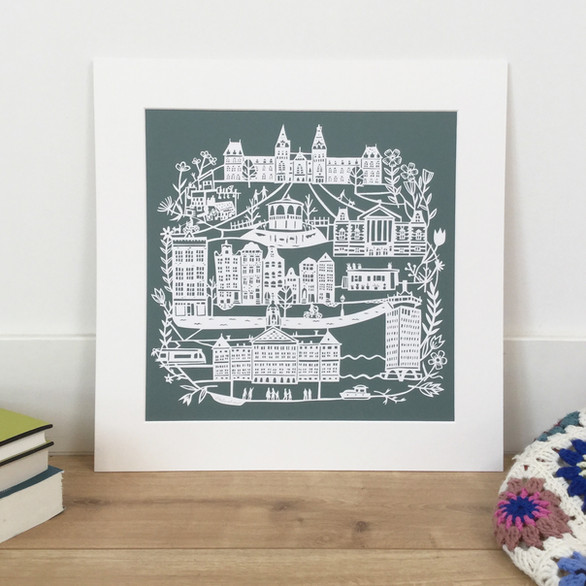 Signed Limited Edition Fine Art Print: One Day in Amsterdam, €100