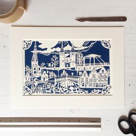 Delft Personalised Papercut