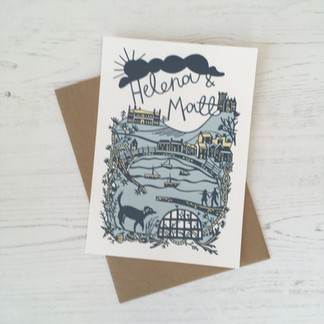 Mousehole Themed Wedding Invitation Suite