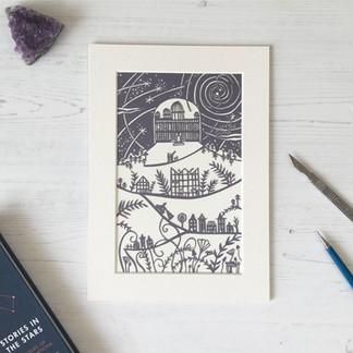 Leiden Observatory Personalised Papercut