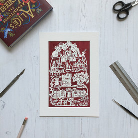 Disney World personalised papercut